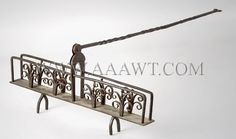 Wrought iron toasting rack