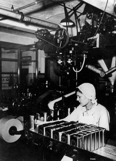 fabrieksfoto, inpakmachine thee