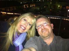Hubby and me on henrys rooftop