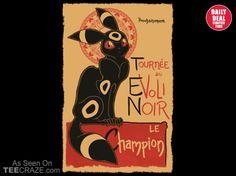 Le Evoli Noir T-Shirt - http://teecraze.com/daily-deal-4/ -  Designed by zimmay      #art #tshirt #fashion #TCRZ