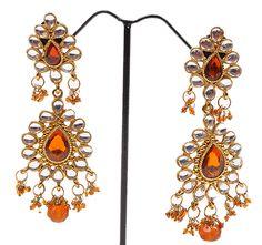 Fancy Kundan Earrings http://www.khushrang.com