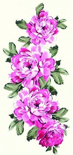 """Latest new design Beautiful and pink peony flowers temporary tattoos for women. Tattoo size : 18.5CMx9CM(7.28""""x3.54""""). High quality Temporary Tattoos are very realistic & look exactly like real tattoos on the skin. Certification:F.D.A, EM/N71, ASTM. Quick and easy to apply,safe and Non-Tox. Not for children under 3years.Temporary Tattoos are not recommended for use on sensitive skin and are not returnable. Will apply to almost any surface: clothing, mirrors, cups, glasses and more."""