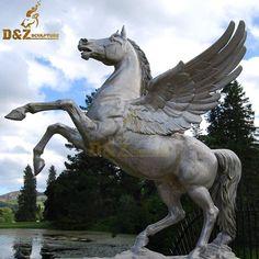 Animal Statues, Animal Sculptures, Garden Statues For Sale, Winged Horse, Z Arts, Horse Sculpture, Horse Head, Fantasy Creatures, Deities