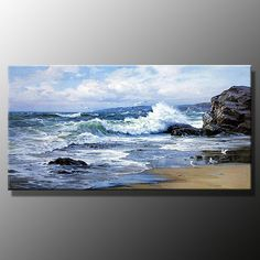 seascape painted on a round canvas - Yahoo Image Search Results
