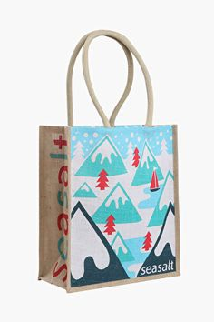 Famous Seasalt Shopper Jute Bag. As well as being a good alternative to disposable carrier bags, they're a brilliant and re-useable way to wrap presents.