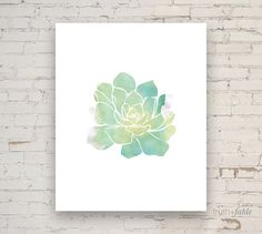 Succulent Watercolor DIY Art Print by truthandfable on Etsy https://www.etsy.com/listing/193604442/succulent-watercolor-diy-art-print
