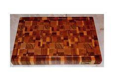 End grain cutting board/Oak board/Mens by WorkshopKrona on Etsy