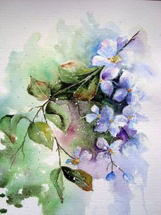 Abstract floral watercolor--artist Yvonne Harry. Beautiful isn't it?