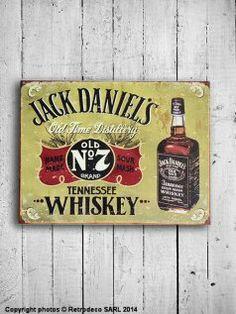Plaque décorative Jack Daniels, déco bistrot, Email Réplica #Retrodeco
