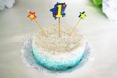 Bizcocho - tarta de cumpleaños - BLW (sin azucar, sin lacteos)