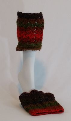 Nell's Warm Tones Diva Variegated Boot Cuffs by NellsCrochet