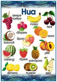 Hua - Fruit Promote and encourage Te Reo Maori in your class environment or learning centre with this fabulous vocabulary poster. Filipino Tribal Tattoos, Samoan Tribal, Maori Tattoos, Borneo Tattoos, Toddler Activities Daycare, Hawaiian Tribal, Hawaiian Tattoo, Waitangi Day, Maori Words