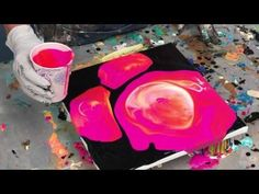 Caren Goodrich - Acrylic Pour Painting: Control The Chaos--How To Define Your Shapes - YouTube