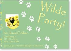 Einladung zum Kindergeburtstag - Wilde Party für Jungen