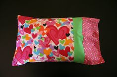 Bright Valentines Heart Travel Pillowcase by RusticRanchHands