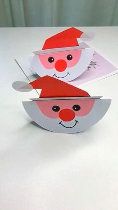 Paper Crafts For Kids, Craft Activities For Kids, Preschool Crafts, Fun Crafts, Santa Crafts, Halloween Crafts For Kids, Christmas Crafts For Kids, Holiday Crafts, Christmas Paper
