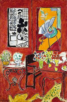 アンリ・マティス Henri Matisse 《大きな赤い室内》 1948年 油彩、カンヴァス