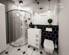 simply about home: Heksagony i klimat B&W w małej łazience. Interior Design Projects, Interior, Home, Simply Home, Bathroom, Bathtub