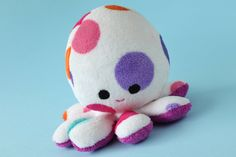 PIKA - cute squishy octopus with colorful dots. $35.00, via Etsy.