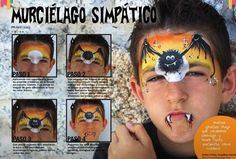 Halloween face paint step by step