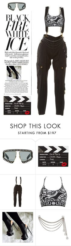 """""""Untitled #112"""" by sjpj ❤ liked on Polyvore featuring Gucci, Charlotte Olympia and Versace"""
