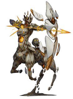 Iskar the Believer from Terra Battle - Creature Design Fantasy Kunst, Fantasy Art, Character Concept, Character Art, 3d Pokemon, Monster Design, Creature Design, Creature Concept Art, Weapon Concept Art