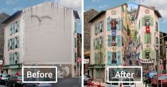 French Artist Transforms Boring City Walls Into Vibrant Scenes Full Of Life | Bored Panda