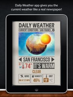 Cool looking weather app to use in PL