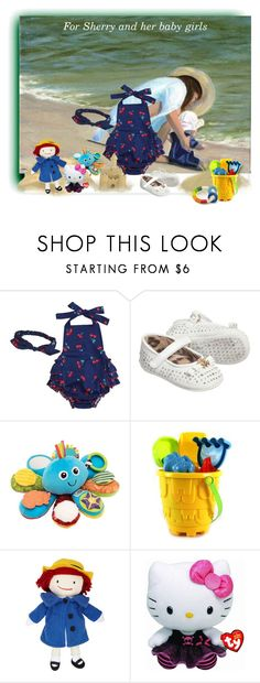 """""""The Beach"""" by lorrainekeenan ❤ liked on Polyvore featuring Roberto Cavalli, Lamaze, Yottoy and Hello Kitty"""