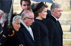 The Belgian Royal Family attended the funeral of Queen Fabiola at the Cathedral of Saints Michael and Gudula in Brussels 12/12/2014
