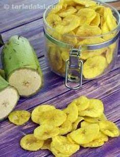 86 raw banana recipes   Tarladalal.com Banana Recipes Indian, Indian Food Recipes, Jain Recipes, Kerala Recipes, Raw Banana, Banana Chips, Green Banana, Navratri Recipes, Navratri Food