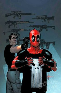 DEADPOOL STEALS THE PUNISHERS SHIRT!