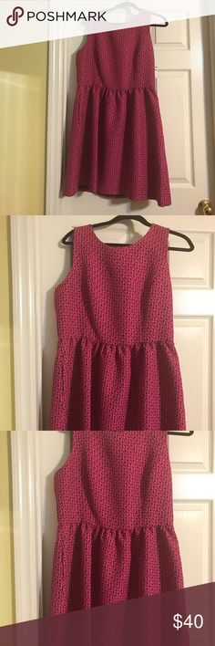 Cynthia Rowley navy and pink fitted dress Cynthia Rowley navy and pink fitted dress. Has pockets! Cynthia Rowley Dresses Mini
