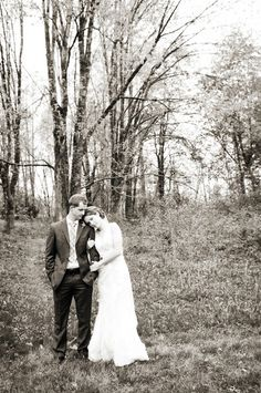 Black and white bride & groom portrait - Photo by SCM Photography