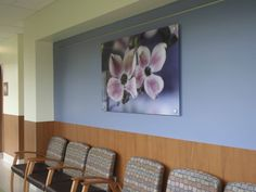 Art by Andrea Sirois at the Jim Pattison Outpatient Care and Surgery Centre in Surrey, British Columbia Surgery Center, Surrey, British Columbia, Centre, Gallery Wall, Artists, Frame, Home Decor, Picture Frame