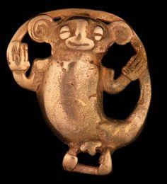 Monkey Effigy Pendant Gran Coclé Gold, 700-1000 CE Thomas Gilcrease Museum