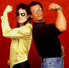 Sylvester Stallone and Michael Jackson Sylvester Stallone, Rocky Film, Stallone Rocky, Michael Jackson Images, John Rambo, Cinema Tv, Rocky Balboa, The Jacksons, The Expendables