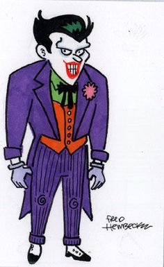 Fred Hembeck Color Sketch Card: The Joker, animated look (DC)  1/1