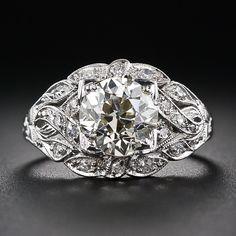 1.90 Carat Faint-Yellow Deco Diamond Ring Circa 1920's