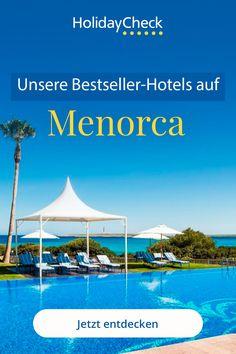 Ihr seid noch auf der Suche nach der perfekten Unterkunft für eure Reise nach Menorca? Hier findet ihr unsere beliebtesten Hotels. Egal ob Familien-, Strandurlaub oder Rundreise, hier ist für jeden etwas dabei. Für euren Urlaub mit Freunden, allein oder mit der Familie haben wir die besten Hotels zusammengestellt. Unsere Geheimtipps für euren perfekten Urlaub auf Menorca mit Fotoideen, Bildern und weiteren Tipps.  #menorca #bestseller #holidaycheck Menorca, Malaga, Beste Hotels, Best Sellers, Sevilla, Dominican Republic, Winter Vacations, The Maldives, Summer Vacations