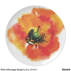 Shop Plate with poppy design created by Buy_ArtDuo. Paper Napkins, Paper Plates, Poppy Shop, Red Paper, Kitchen Collection, Succulents Diy, Red Poppies, Art For Kids, Art Pieces