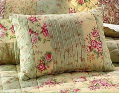 Shabby pink sage roses breakfast bed pillow pillow 16 sweet chic in Collection items, Textiles (since Pillows Sewing Pillows, Diy Pillows, Decorative Pillows, Cushions, Throw Pillows, Pillow Ideas, Shabby Chic Pillows, Shabby Chic Bedrooms, Quilted Pillow
