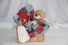 New  Baby baby Boy basketCountry basket Hostesses by SouthernA