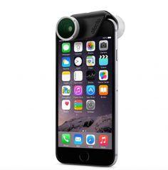 Olloclip 4-in-1 fotolens iPhone 6/6 Plus zilver/zwart  SHOP ONLINE: http://www.purelifestyle.be/shop/view/technology/ios-must-haves/olloclip-4-in-1-fotolens-iphone-6-plus-zilver-zwart