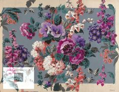~ design for a printed textile by Franklin & Franklin, purchased in 1938 by Arthur Silver for the Silver Studio