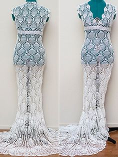 This Wedding Dress Costs Less Than You Think $30 in material. Kudos for her.  She has more skill at chocheting than I do.