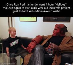 """Ron Perlman also makes a great-bad-ass Hellboy. I wonder if the directer chose him for this role because of his previous role in """"Beauty and the Beast""""."""