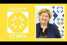 The Dandy Stars Quilt (Missouri Star Quilt Company - YouTube)