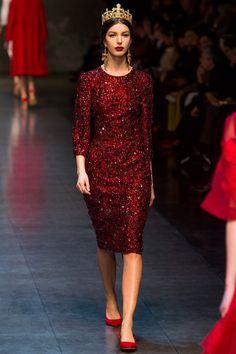 Dolce & Gabbana Fall 2013 Ready-to-Wear Fashion Show - Kate King