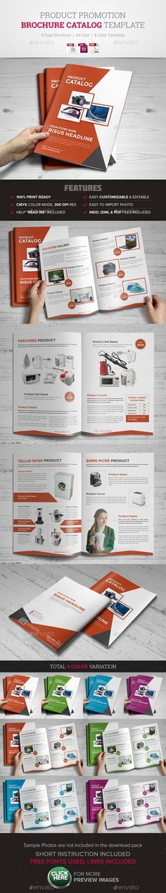 Buy Product Promotion Catalog InDesign Template by Jbn-Comilla on GraphicRiver. Product Promotion Catalog InDesign Template Creative, Clean and Modern Product Promotion Brochure Catalog InDesign Te. Indesign Templates, Print Templates, Brochure Template, Luxury Brochure, Business Brochure, Brochure Layout, Brochure Design, Advertising Design, Advertising Plan